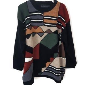 Vintage La Madona Patterned Sweater